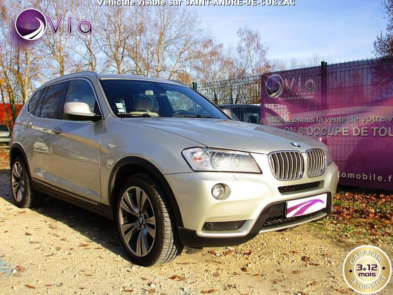 BMW-X3- xDrive 30d BVA  258cv EXCLUSIVE F25